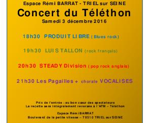 03/12/16 L'AVNY et Les Pagailles au Téléthon de Triel-sur-Seine