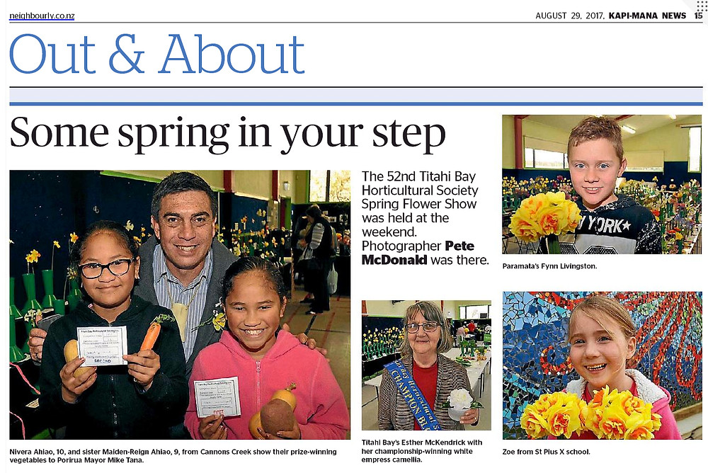 Some spring in your step - Our Spring Flower Flower Show featured in the Kapi Mana News