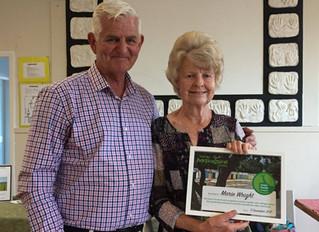 Inaugural Green Thumb award winner Marie Wright