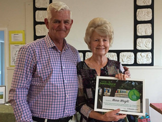 Inaugural Green Thumb award winner Marie Wright