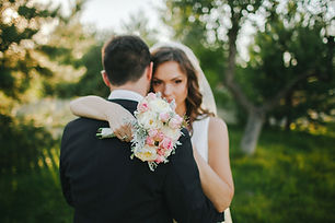 Mariée et le marié Hug