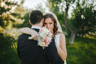 La novia y el novio Abrazo