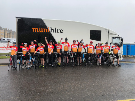 Waste on Wheels WOWS with charity challenge success