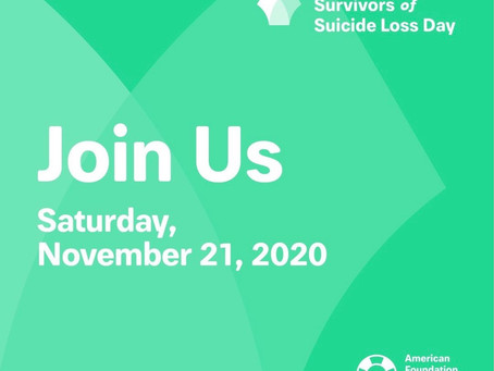 Commemorating International Survivors of Suicide Loss Day