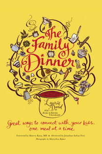 by Laurie David.  This book helps families resurrect the family dinner, reinvented for the realities 21st century life.  The author sees family dinner going by the wayside just when we need it most. Throw into that mix the onslaught of current technologies that have invaded our homes and taken our kids (and ourselves) hostage, and it becomes clear why connecting with our kids is more difficult now than it has ever been. (Grand Central Publishing, Fall 2010) Manuscript only.