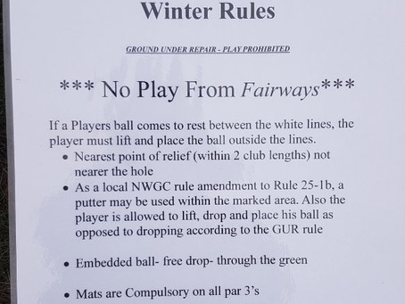Fairway Winter Protection & Winter Rules.