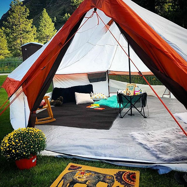 Our new Kids Tent is the perfect set up