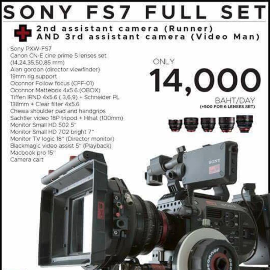 [SET] SONY FS7 w/ 2&3 ASST CAM