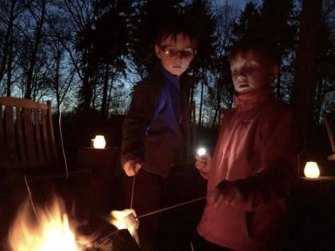 Toasting marshamallows