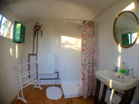 Shepherds Hut Shower