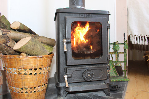 Wood burning stoves in every hut.