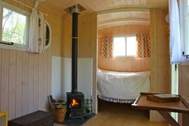 Sneak peak inside the shepherds huts