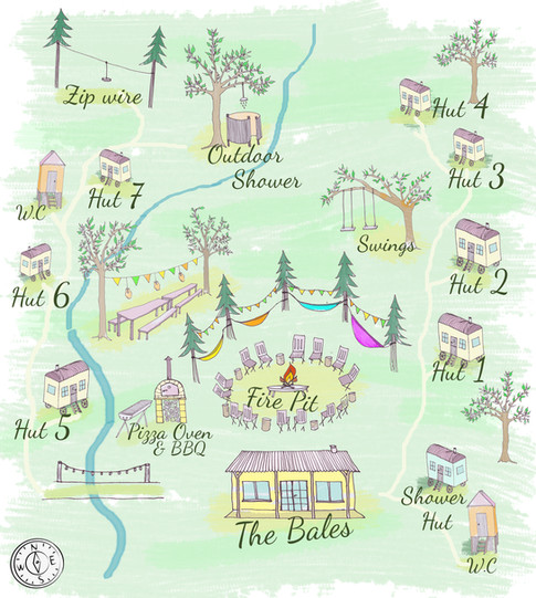 The Green Escape site map