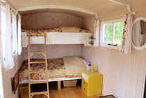 Bunk beds in the large huts