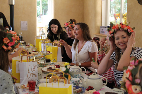 Vintage tea party in 'The Bales'