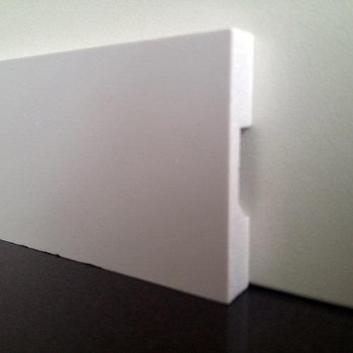 Rodapé e Moldura de Poliestireno Liso 5cm - Barra com 2,40 Metros