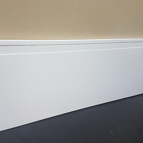 Rodapé de Poliestireno Frisado 20cm - Barra com 2,40 Metros