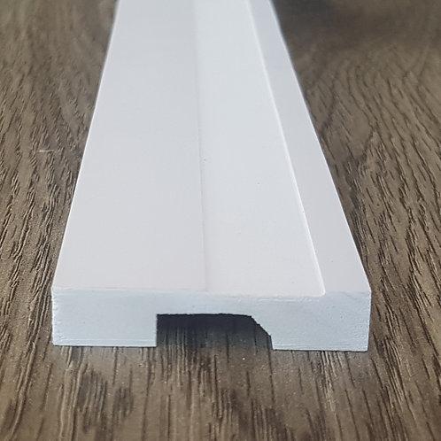 Rodapé e Moldura de Poliestireno Frisado 5cm - Barra com 2,40 Metros