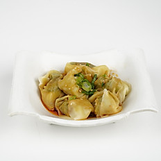 Chicken Wonton in Chili Sauce 红油菜肉大馄饨