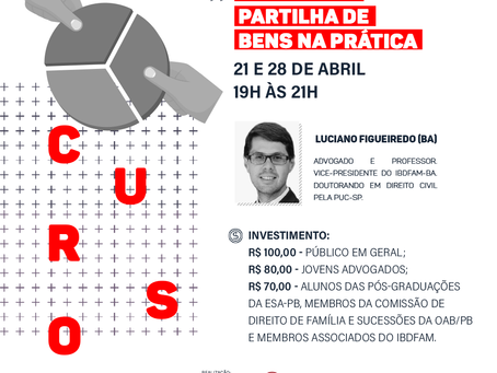 CURSO ON-LINE: DIVÓRCIO E PARTILHA DE BENS NA PRÁTICA