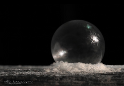 Frozen bubble; Davison, MI