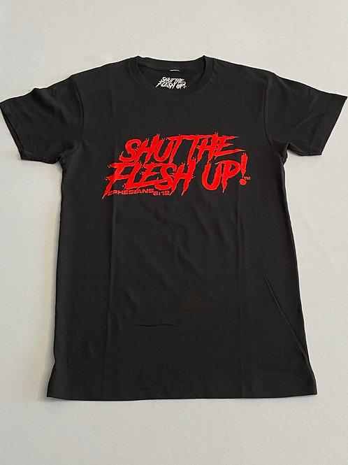 Shut The Flesh Up - Scoop Neck T-Shirt