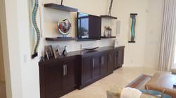 Custom Wood TV unit
