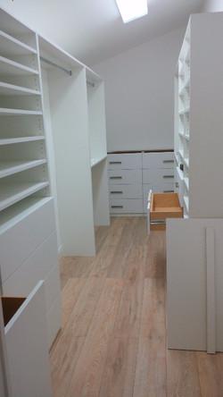 Closet with hamper