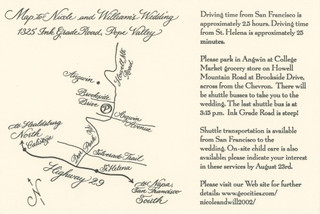 Map for wedding suite