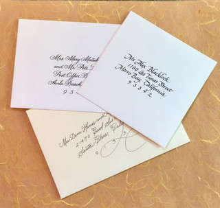 Hand Lettered Envelopes