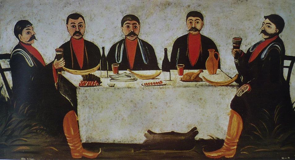 Niko Pirosmani. Feast of Five Noblemen.