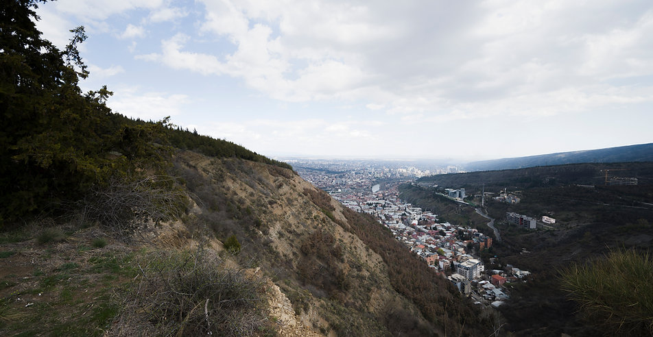 Tbilisi seen from Mount Mtazminda with the Sololaki district. Photo © Sandro Sulaberidze 2