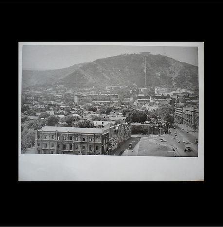 Mount Mtazminda with Funicular, around 1960, bw photograph (2).JPG