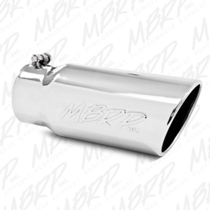 """MBRP T5051 5"""" O.D. Angled Rolled End 4"""" Inlet 12"""" length"""