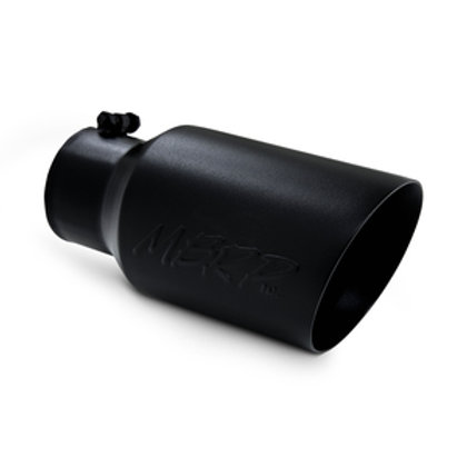 """MBRP T5072BLK T5072BLK 6"""" O.D. Dual Wall Angled 4"""" inlet 12"""" length"""