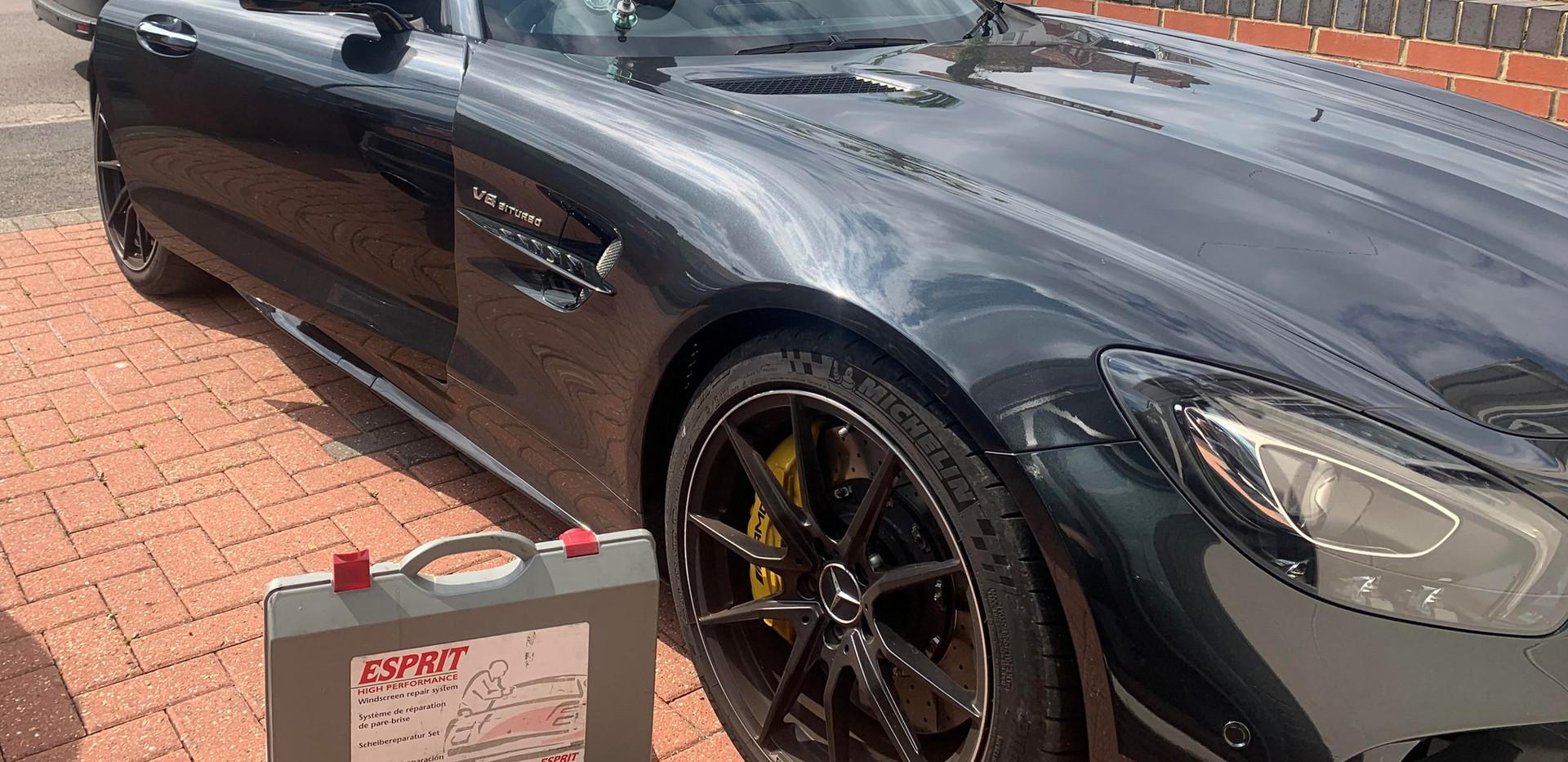Mercedes-AMG GT Coupé Windscreen Repaire