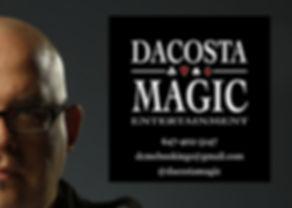 DaCosta Magic Contact Info Logo