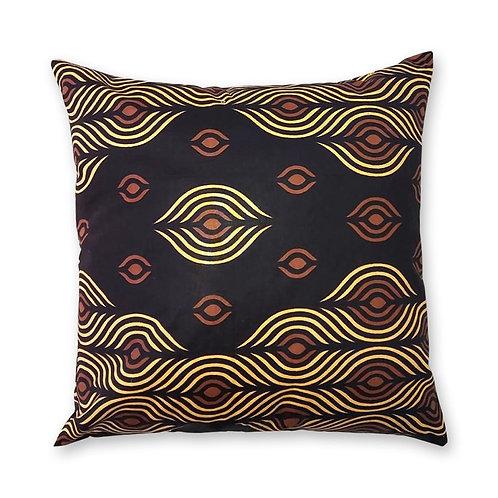 Coussin décoratif en tissus Wax africaine coloré - Nkéni