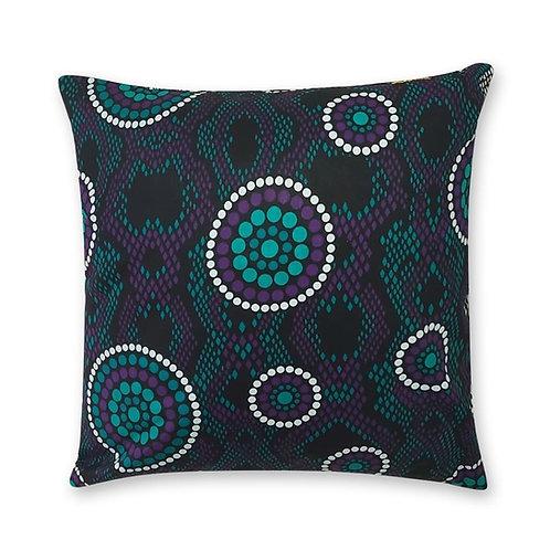 Coussin décoratif en tissus Wax africaine coloré - Djambala