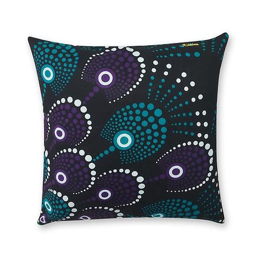 Coussin décoratif en tissus Wax africaine coloré - Loufoulakari