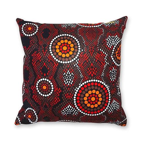 Coussin décoratif en tissus Wax africaine coloré - Ewo