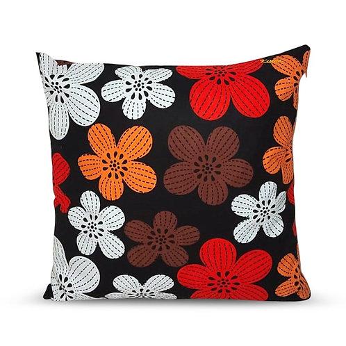 Coussin décoratif en tissus Wax africaine coloré - Oubangi