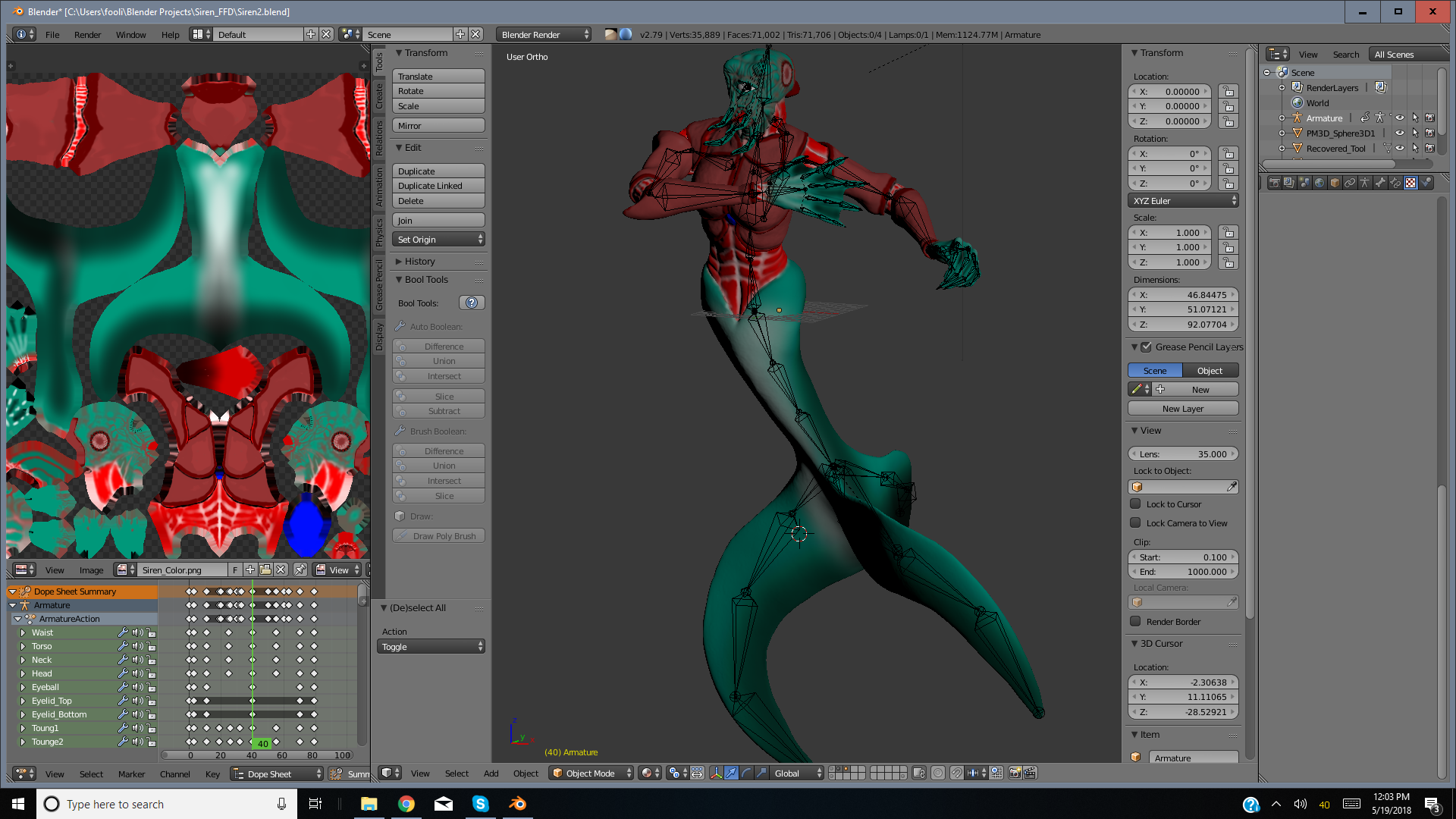 Siren Animaton Rig