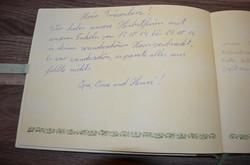 Eintrag im Gästebuch