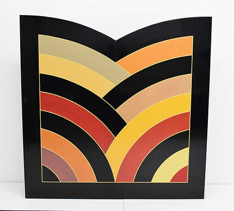 Large Frank Stella Attributed Painting on Board