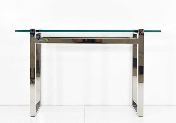Glass and Chrome Console