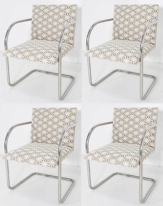 Set of Four Mies Van Der Rohe Brno Chairs by Knoll