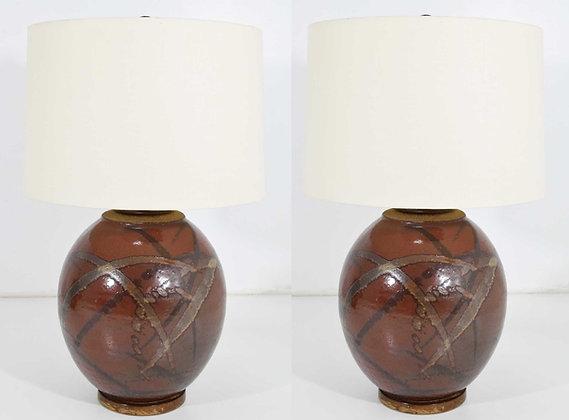 Pair of Brent Bennett Table Lamps