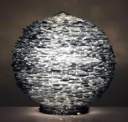 Large Cut Glass Art Lamp