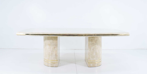 Maitland Smith Tesellated Marble Dining Table